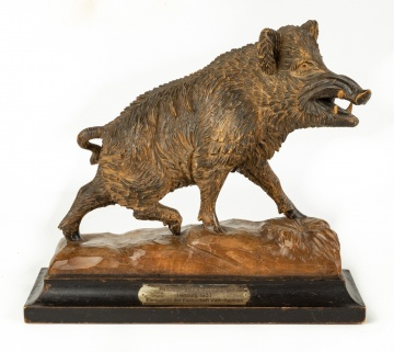 Black Forest Carving of Wild Boar