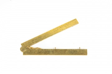 Early Cast Brass Ruler