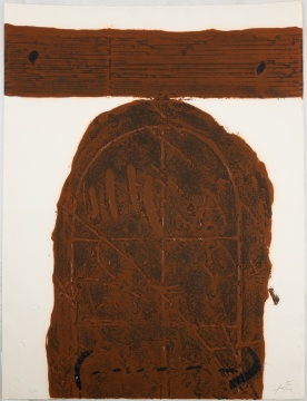 "Antoni Tapies (Spanish, 1923-2012) ""Porta Marro"""
