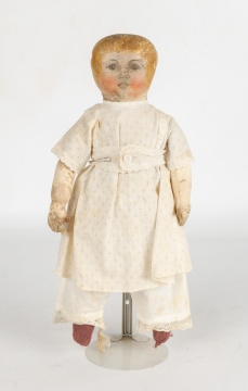 Columbian Oil Cloth Doll