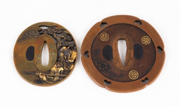 19th Century Mixed Metal Japanese Tsubas