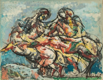"Robert Arthur Goodnough (American, 1917-2010) ""Horses & Riders"""