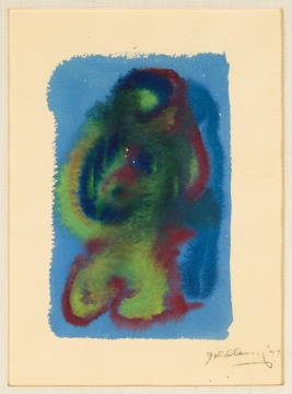 Michael Goldberg (American, 1924-2007) Blue, Green & Red