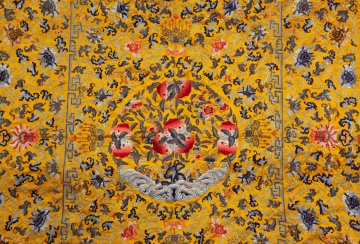 Fine Chinese Yellow Kesi Silk Panel