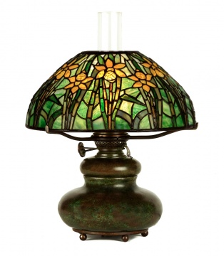 Rare Tiffany Studios, New York Daffodil Table Lamp