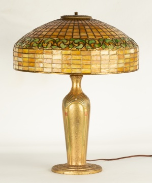 Tiffany Studios, New York Swirling Leaf Table Lamp