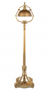 Unusual Tiffany Studios, New York Floor Lamp