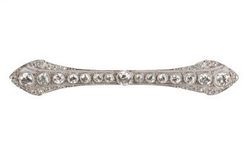 Tiffany & Co. Art Deco Platinum & Diamond Pin