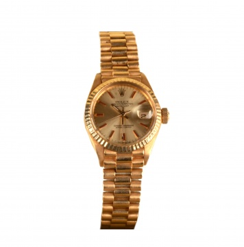 18K Gold Lady-Datejust Rolex Watch