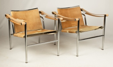 Pair of Le Corbusier LC1 Sling Chairs