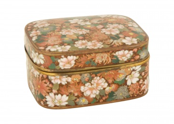 Japanese Cloisonné Floral Covered Box