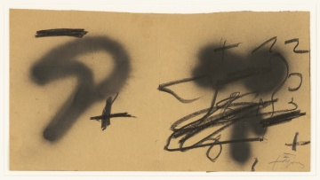 Antoni Tàpies (Spanish, 1923-2012) Untitled, DWG for cover