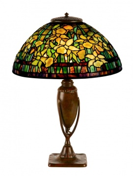 A Fine Tiffany Studios, New York Daffodil Table Lamp