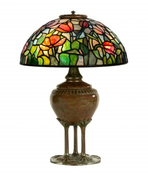 Rare Tiffany Studios, New York Tulip Table Lamp