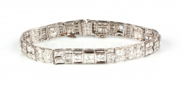 An Art Deco Era Platinum Bracelet