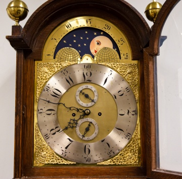Theodore B. Starr Moon Phase Tall Case Clock