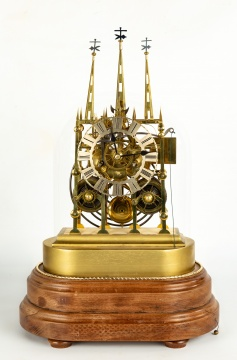 Litchfield Cathedral, 2-Tier Skeleton Clock