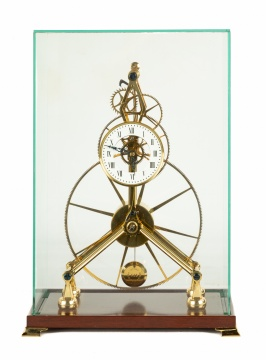 English Copy of a French Skeleton Clock