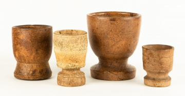 Four Early American Turned Mortars
