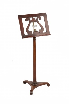 Classical Mahogany & Brass Music Stand