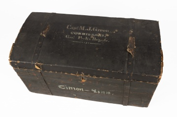 Civil War Era Wooden Trunk