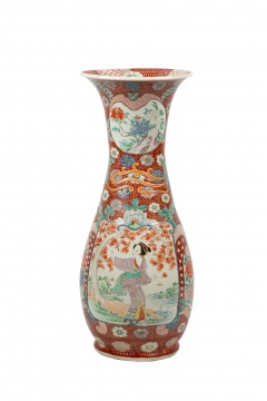 Japanese Hand Painted Porcelain Floor Vase
