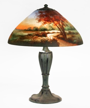 Jefferson Reverse Painted Sunset Lamp