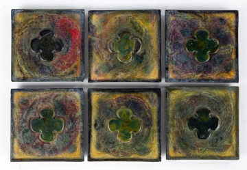 (6) Tiffany Studios Favrile Glass Tiles