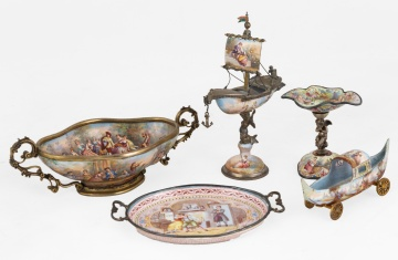 Viennese Silver Enameled Curios