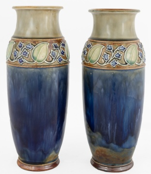 Pair of Royal Doulton Arts & Crafts Vases