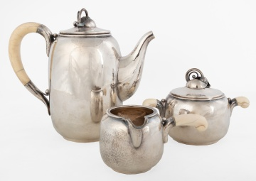 3-Piece Danish Sterling Silver Tea Set