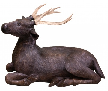 Carved Black Forest Deer with Antlers