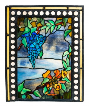 American School Leaded Glass Window