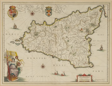 W. Blaeu, Map of the Island of Sicily