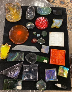 Group of Tiffany Studios Favrile Glass Tiles
