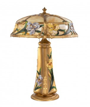 Art Nouveau Iris Panel Lamp