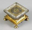 Gold Gilt & Silver 17th Century Table Clock