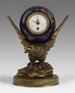 French Porcelain Clock w/American Eagle