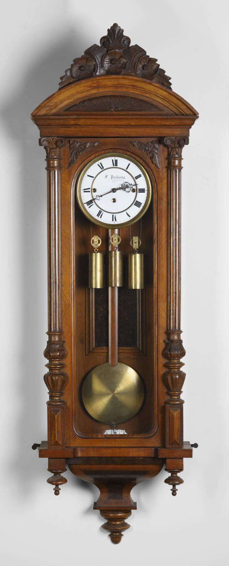 Vienna 3 weight regulator wall clock cottone auctions vienna 3 weight regulator wall clock amipublicfo Image collections