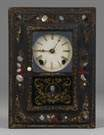 J. C. Brown Paper Mache Picture Frame Clock
