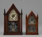 Gothic Shelf Clock & Miniature Steeple Clock