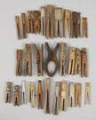 Lg. Group of 30 Primitive Clothespins