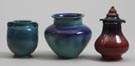3 Lulu Scott Backus Art Pottery Vases
