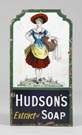 Hudson's Extract of Soap Porcelain Sign