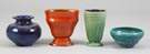 4 Pcs. Lulu Scott Backus Artglass Pottery