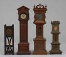 Lot of 4 Miniature Clocks