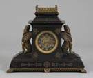 Tiffany & Co. Egyptian Revival Slate & Bronze Shelf Clock