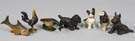 L - Group of 3 Cast Iron Bottle Opener Animals, R - Group of 4 Cast Iron Paperweight Dogs
