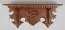 Carved Walnut Clock Shelf w/Eagle