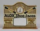 Alox Shoe Lace Tin Advertising Clock